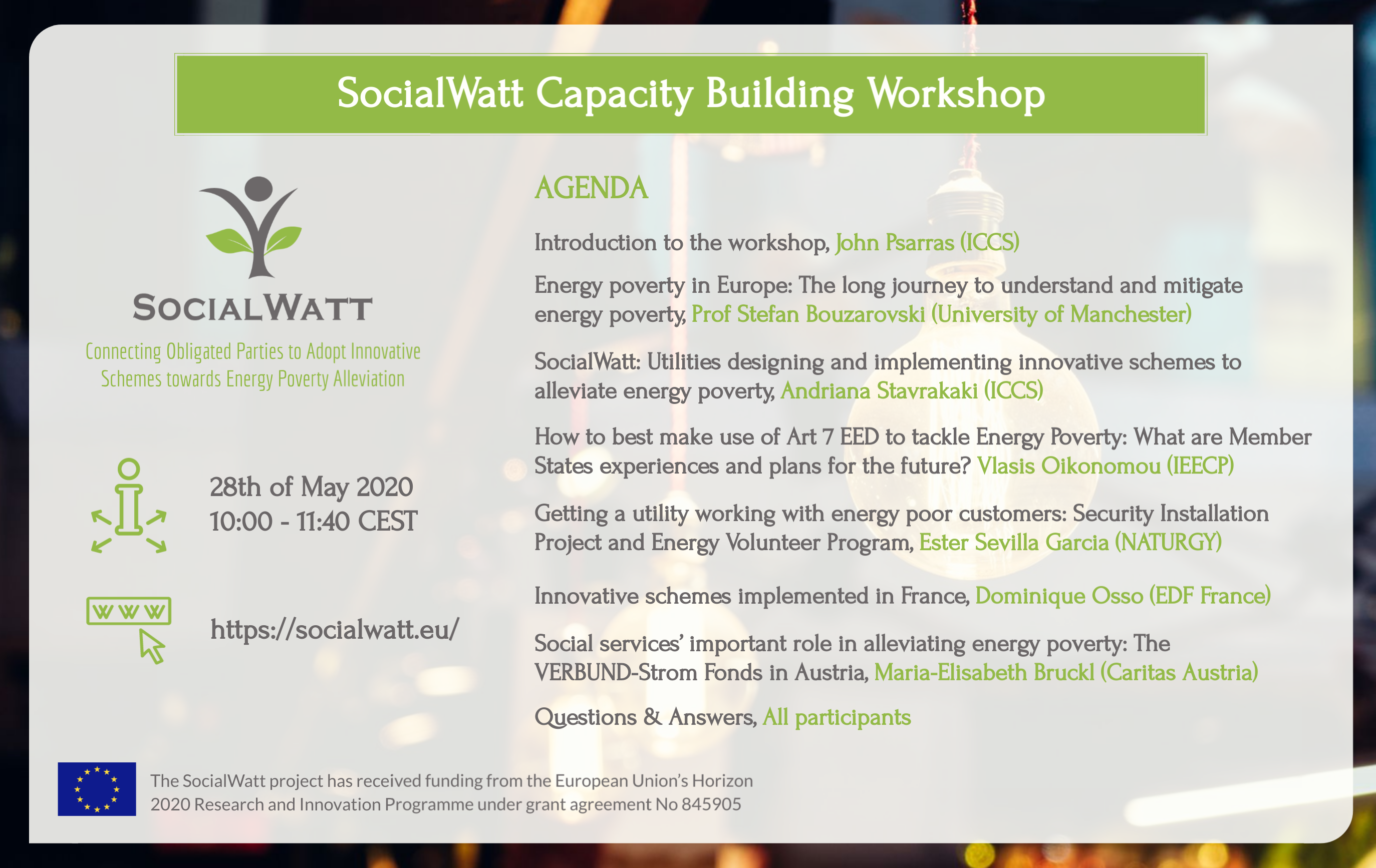 SocialWatt Capacity Building Workshop